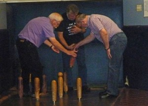 How many Rotarians does it take to replace a pin-