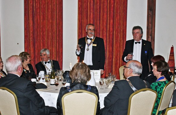 President Gerry & Top Table