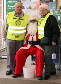 Santa (Richard H) Behaving with Neville & Wendy